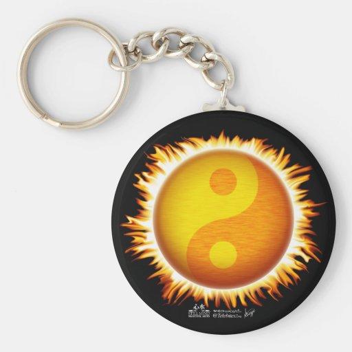 Llavero del símbolo el flamear Yin Yang Sun