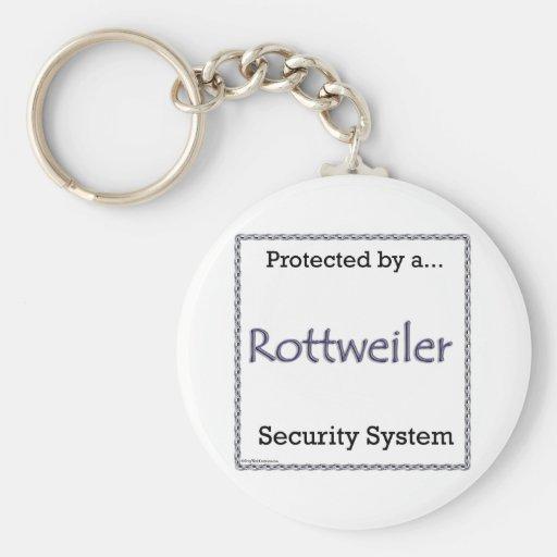 Llavero del sistema de seguridad de Rottweiler