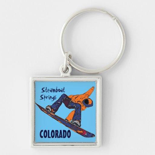 Llavero del snowboarder de Steamboat Springs Color
