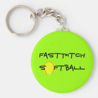 Llavero del softball de Fastpitch