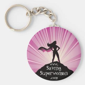 Llavero del Superwoman del ahorro