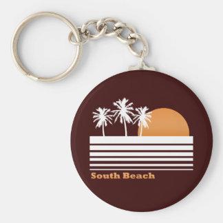 Llavero del sur retro de la playa