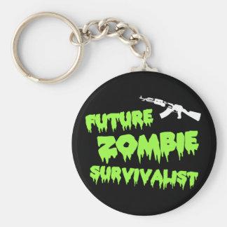 Llavero del Survivalist del zombi