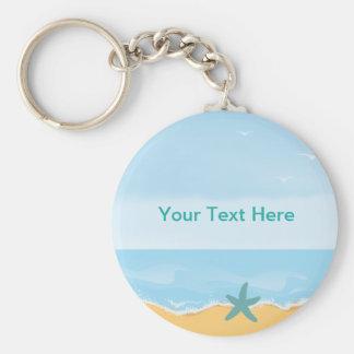 Llavero del tema de la playa