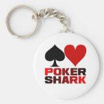 Llavero del tiburón del póker