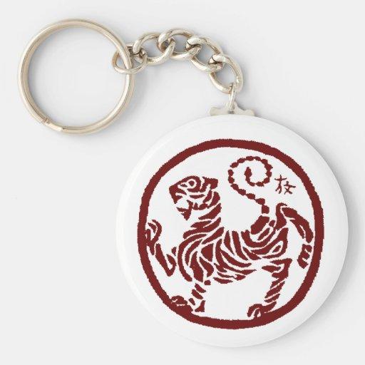 Llavero del tigre de Shotokan