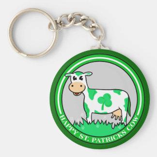 Llavero del trébol de la vaca del día de St Patric