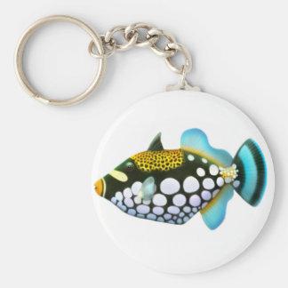 Llavero del Triggerfish del payaso