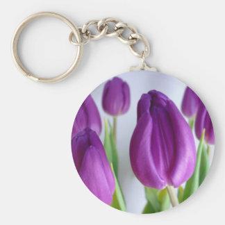¡Llavero del tulipán de la primavera - asequible! Llavero Redondo Tipo Pin