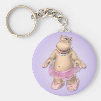 Llavero del tutú del hipopótamo