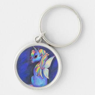 Llavero del unicornio del Faerie del arco iris