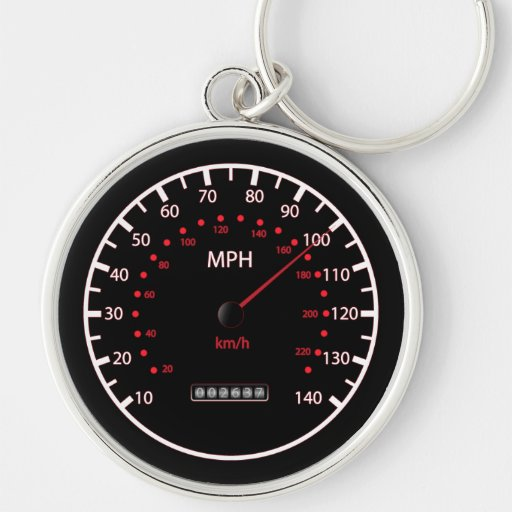 Llavero del velocímetro del coche