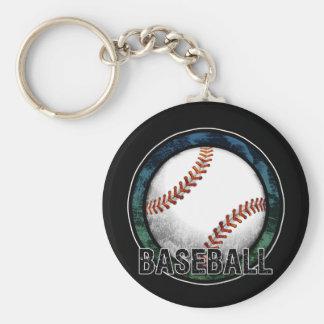 Llavero del verde azul del emblema del béisbol