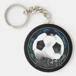 Llavero del verde azul del emblema del fútbol