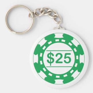 Llavero del verde del microprocesador del casino d