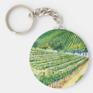 Llavero del viñedo de California