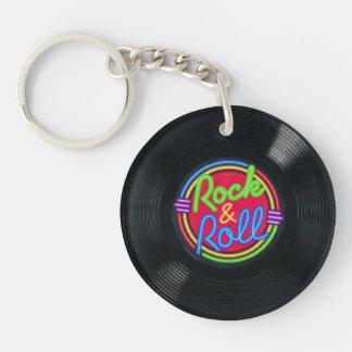 Llavero del vinilo del vintage del rock-and-roll
