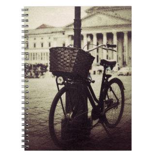 Llavero del vintage de la bici de München Libro De Apuntes Con Espiral