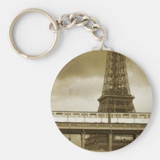 Llavero del vintage de la torre Eiffel