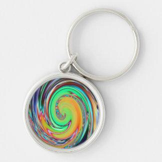 Llavero del vórtice espiral del arco iris