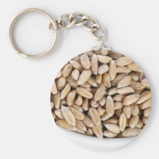 Llavero deletreado sano del grano