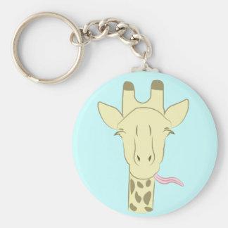 Llavero descarado de la jirafa