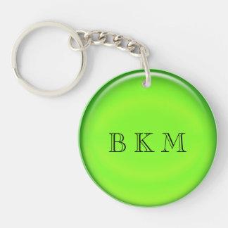 Llavero - disco verde con iniciales