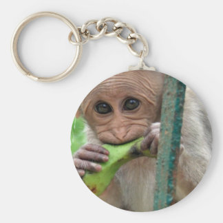 Llavero divertido de la imagen del mono