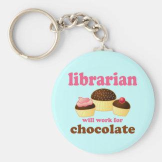 Llavero divertido del bibliotecario