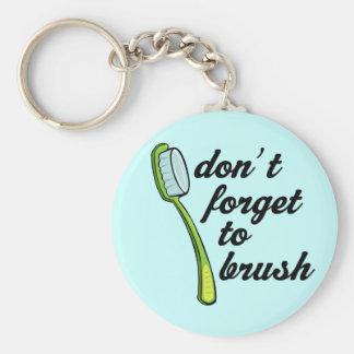 Llavero divertido del dentista del cepillo de dien