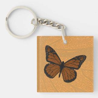 Llavero Doodled del acrílico del monarca