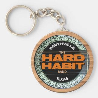 Llavero duro del logotipo del hábito