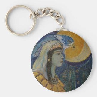 Llavero egipcio de la diosa del halcón