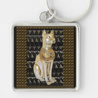 Llavero egipcio del gato de la diosa de Bastet