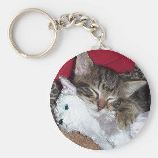 Llavero el dormir del gatito