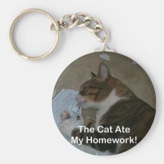 Llavero: ¡El gato comió mi preparación!