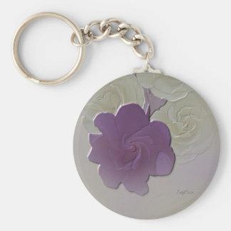 Llavero elegante del llavero - Daisie púrpura
