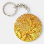 Llavero elegante del otoño del oro de los remolino