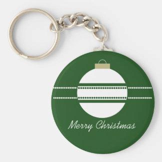 Llavero elegante simple del navidad del ornamento