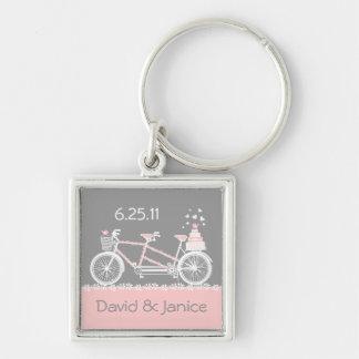 Llavero en tándem del recuerdo del boda de la bici