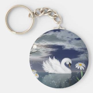 llavero encantado del cisne - cisne digital pintad