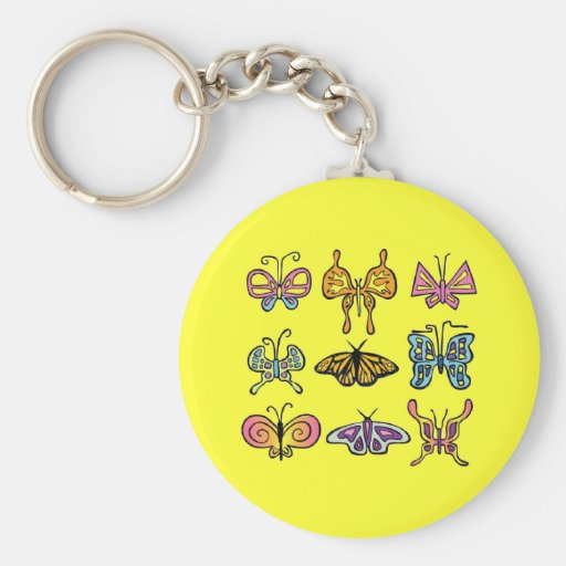 Llavero enrrollado de la mariposa