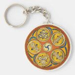 Llavero espiral céltico, diseño de Lughnasadh