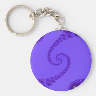 Llavero espiral doble púrpura azul