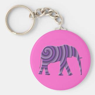Llavero espiral púrpura de Elepant