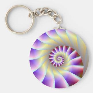 Llavero espiral púrpura y blanco rojo