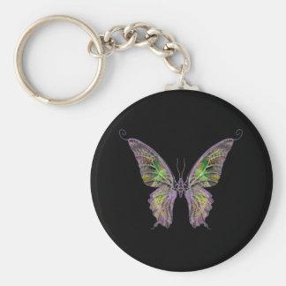 Llavero exótico de la mariposa