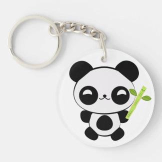 Llavero feliz de la panda del bebé