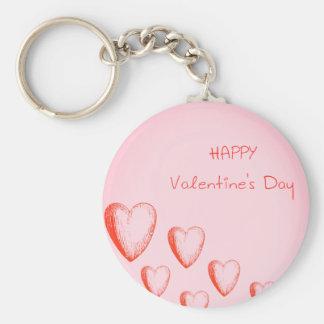 Llavero feliz del botón del el día de San Valentín