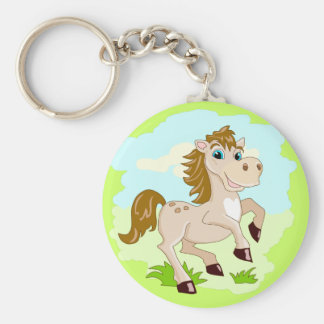Llavero feliz del caballo